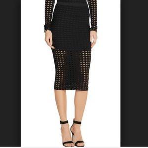 T by Alexander Wang Skirts - T by Alexander Wang Laser Cut Black Jersey Skirt S